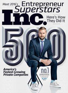 Inc. 5000 September 2016 cover