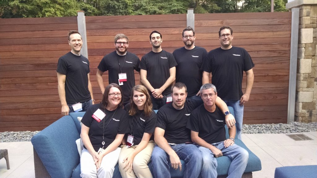 WingSwept team outside Best Places to Work