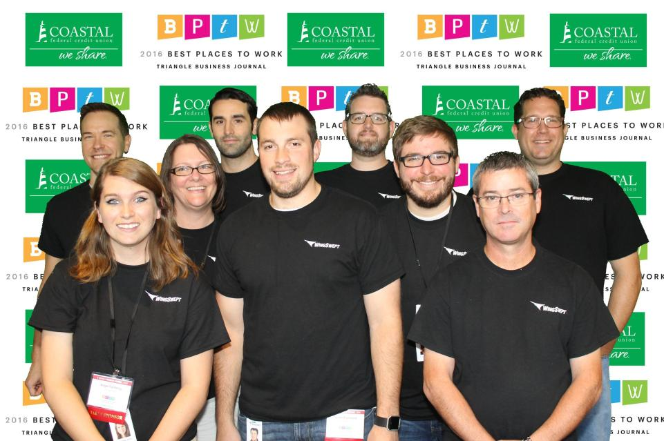 WingSwept team on red carpet at Best Places to Work