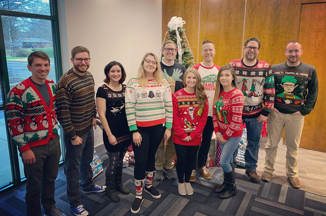 WingSwept Christmas sweater day